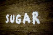 Sugar text 3 — Stock Photo