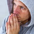 Praying man — Stock Photo