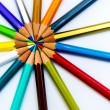 Fanned pencils — Stock Photo #40107377