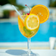 Cocktail on a beach — Stock Photo