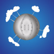 Iron planet — Stock Vector #25873249