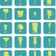 Vector Drink Glass Icons - Stock Vector