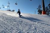 Snowboarding in Silichy, Belarus 2012 2013 — ストック写真