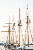 Masts and ropes of a sailing ship — Stock Photo
