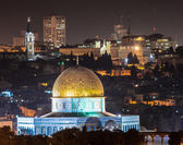 Dome of the Rock in Jerusalem at night — Stock Photo