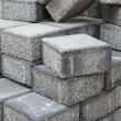 Stock Photo: Gray square pavement bricks