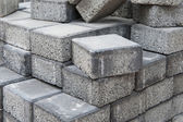 Gray square pavement bricks — Stock Photo