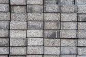 Gray square pavement cement bricks — Stock Photo