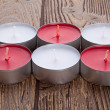 Red and white candles — Stock Photo #25313615
