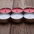 Red and white candles — Stock Photo #25313623