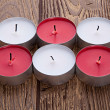 Red and white candles — Stock Photo #25313627