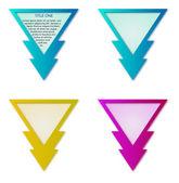 Rótulos de triângulo — Foto Stock