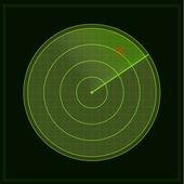 Green radar screen — Stock Photo