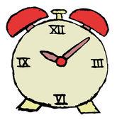 Sketch of alarm clock — Stock Photo