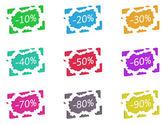 Discount broken label — Stock Photo