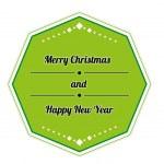 Retro merry christmas sign — Stock Vector #27678063