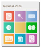 Deska s různými podnikání symboly — Stock vektor