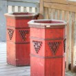 Wooden trash can — Stock fotografie