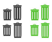 Trash can silhouette — Stock Vector