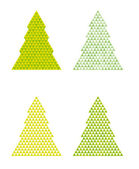 Abstract trees with triangle on the top — Stock Vector