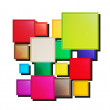 Different overlapping squares — Stock Vector #36592001