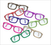 Color glasses - mess — Stock Vector
