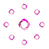 Gradient circle arrows — Stock Vector