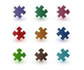 Цвет головоломки — Cтоковый вектор