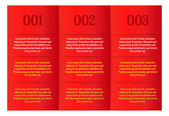 Infographics - three red vertical panels — Stock Vector