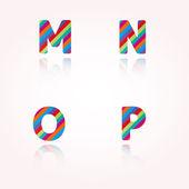 Color alphabet letters — Stock Vector