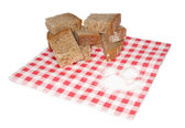 Small pieces of bread and salt — Stock Photo
