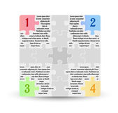 Infographics - four options with puzzle pieces — Vecteur