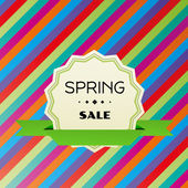 Spring sale colorful vector background — Stock Vector