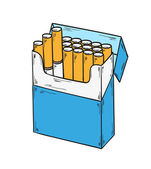 Pack of cigarettes — Stock Vector