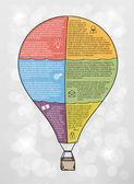 Infographic vector balloon — Stock Vector