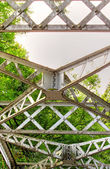 Girders of the iron bridge — Foto de Stock