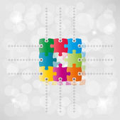Vector puzzle path background — Stock vektor