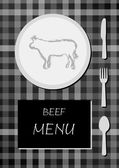 Beef menu — Stock Vector