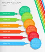 White infographic — Stock Vector