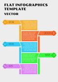 White flat infographcs — Stock Vector