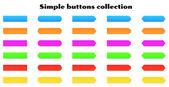 Boutons simples — Vecteur