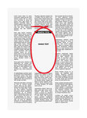 Vector newspaper with highlighting — Stock Vector