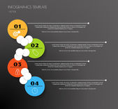 Black infographics — Stock Vector
