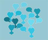 Blue silhouette speak bubble — 图库矢量图片