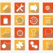 Vector collection of flat icons — Stock Vector #49117675