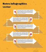 Yellow infographics — Stock Vector