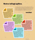 Yellow infographics — Stock vektor
