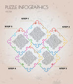 Infographic puzzle vector — Stock Vector
