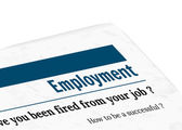 Newspaper - employment — Stock Vector
