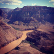 Grand Canyon from helicopter — Stock Photo